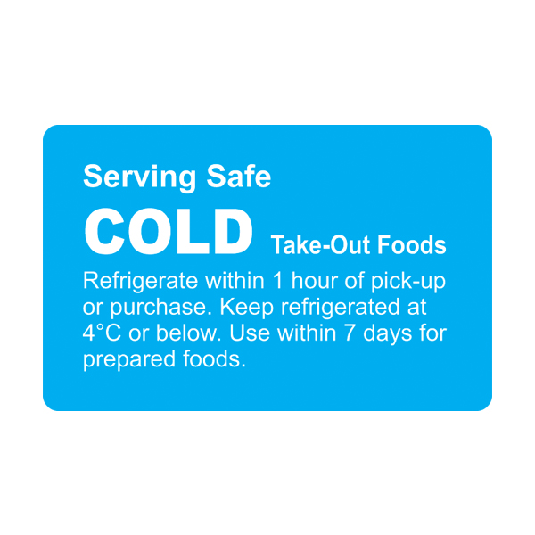 Cold Prep Label - 38mm x 60mm Permanent Printed Blue Reverse Block - Roll 500